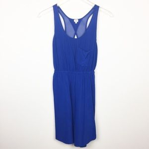 Blue Silk Open Back Aritzia Dress